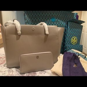 Tory Burch Tote and Wallet Set